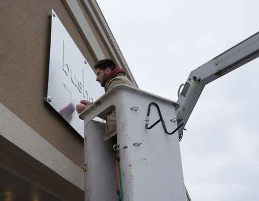 installing a sign